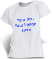 White WOMEN T-shirt Full color printing
