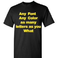 Black T-shirt Full color Printing