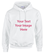 White Hoodie Full color printing