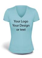 V-neck Women T-shirt Multi-Color Printing