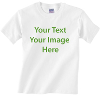 White KIDS T-shirt Full color printing