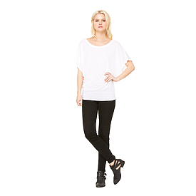 B8821 LADIES FLOWY DRAPED SLEEVE DOLMAN TEE