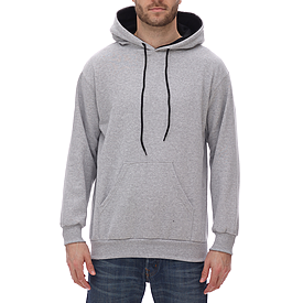 KF9041 TWO TONE DOUBLE HOODED SWEATSHIRT, WITH CONTRASTING INNER HOOD AND DRAWSTRING