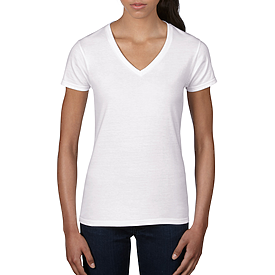 88VL LIGHTWEIGHT V-NECK TEE FOR LADIES