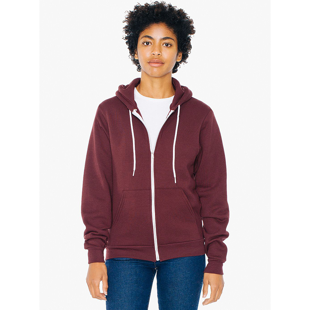 F497W UNISEX FLEX FLEECE ZIP HOODED SWEATSHIRT