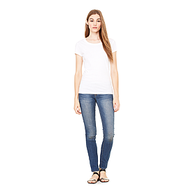 B8701 LADIES SHEER MINI RIB S/S TEE