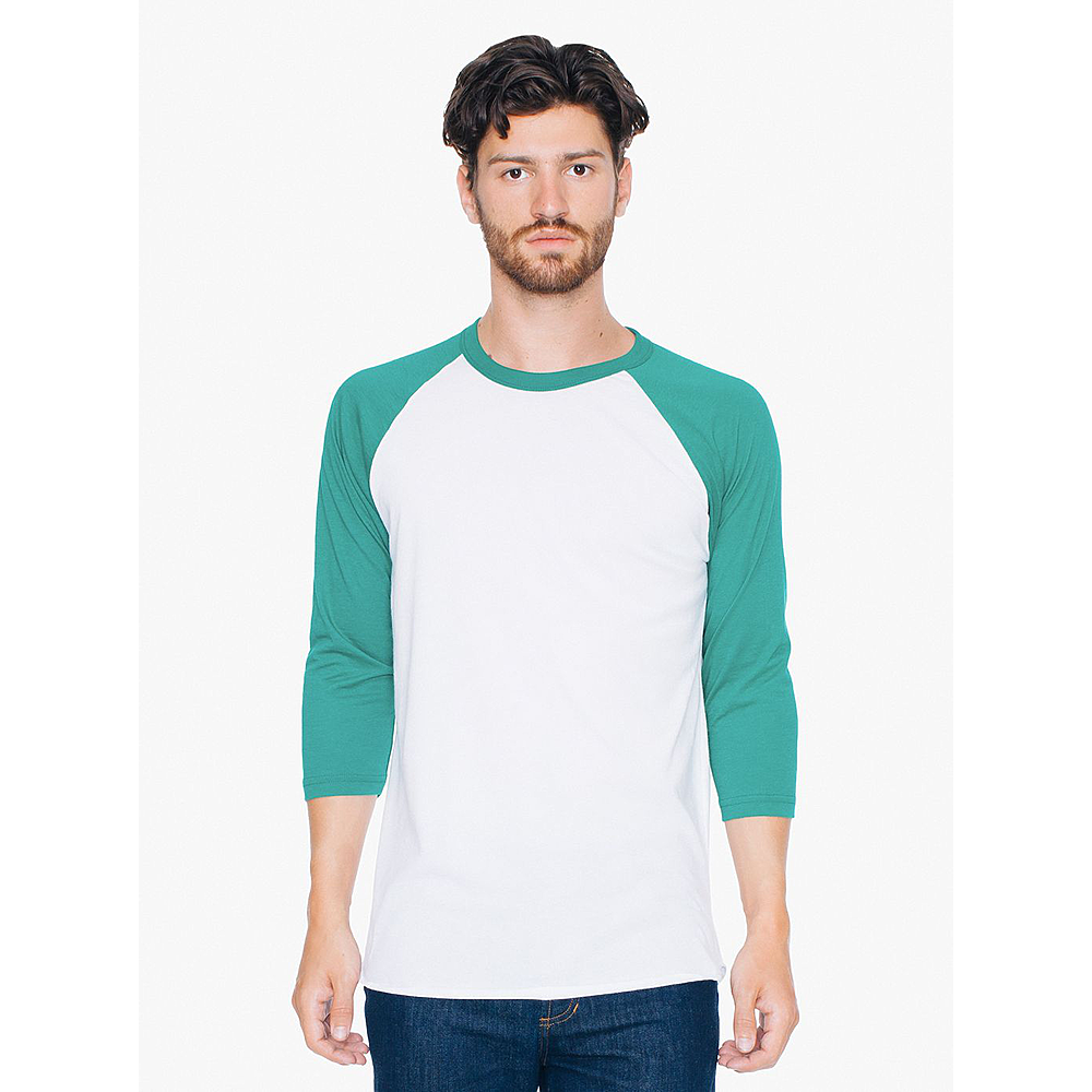 BB453W UNISEX POLY-COTTON 3/4 SLEEVE RAGLAN T-SHIRT